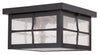 Livex Lighting Brighton Hammered Bronze Finish Outdoor Ceiling Mount 2689-07