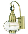 Livex Lighting Newburyport Antique Brass Wall Lantern 27001-01