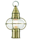 Livex Lighting Newburyport Antique Brass Post Lantern 27002-01