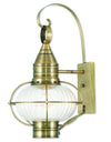 Livex Lighting Newburyport Antique Brass Wall Lantern 27004-01