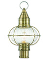 Livex Lighting Newburyport Antique Brass Post Lantern 27005-01
