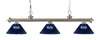 Z-Lite Riviera Brushed Nickel 200-3BN-ARDB Island/Billiard Light