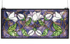 "Meyda 25""W X 11""H Magnolia Stained Glass Window"