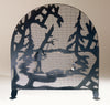 "Meyda 30""W X 30""H Fly Fishing Creek Arched Fireplace Screen"