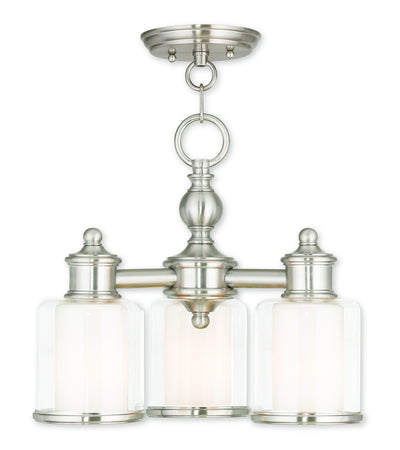 Livex Lighting Middlebush Brushed Nickel Convertible Mini Chandelier/Ceiling Mount 40203-91