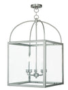 Livex Lighting Milford Brushed Nickel Lantern 4038-91