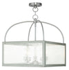Livex Lighting Milford Brushed Nickel Lantern 4057-91