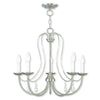 Livex Lighting Mirabella Brushed Nickel Chandelier 40865-91