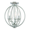 Livex Lighting Arabella Polished Chrome Convertible Mini Chandelier/Ceiling Mount 40913-05