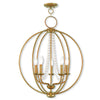 Livex Lighting Arabella Antique Gold Leaf Chandelier 40915-48