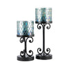 Ambia Set of 2 Pillar Holders