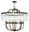 Livex Lighting Ashton Hand Painted Palacial Bronze Chandelier 50549-64