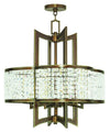 Livex Lighting Grammercy Hand Painted Palacial Bronze Chandelier 50575-64