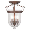 Livex Lighting Jefferson Vintage Bronze Ceiling Mount 5061-70