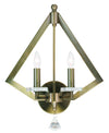 Livex Lighting Diamond Antique Brass Wall Sconce 50662-01