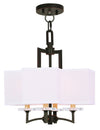 Livex Lighting Woodland Park  Olde Bronze Convertible Mini Chandelier/Ceiling Mount 50704-67