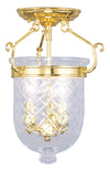 Livex Lighting Jefferson Polished Brass Ceiling Mount 5071-02