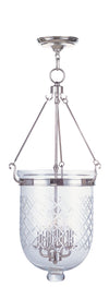 Livex Lighting Jefferson Polished Nickel Chain Lantern  5075-35