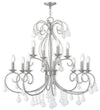 Livex Lighting Donatella Brushed Nickel Chandelier 50770-91