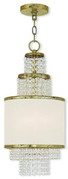 Livex Lighting Prescott Hand Applied Winter Gold Mini Chandelier 50780-28