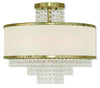Livex Lighting Prescott Hand Applied Winter Gold Ceiling Mount 50795-28