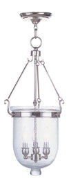 Livex Lighting Jefferson Polished Nickel Chain Lantern  5084-35