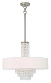 Livex Lighting Carlisle Brushed Nickel Chandelier 51034-91