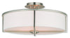 Livex Lighting Wesley Brushed Nickel Ceiling Mount 51075-91