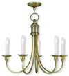 Livex Lighting Cranford Antique Brass Chandelier 5145-01