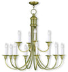 Livex Lighting Cranford Antique Brass Chandelier 5149-01