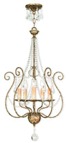 Livex Lighting Isabella Hand Applied European Bronze Foyer Chandelier 51907-36