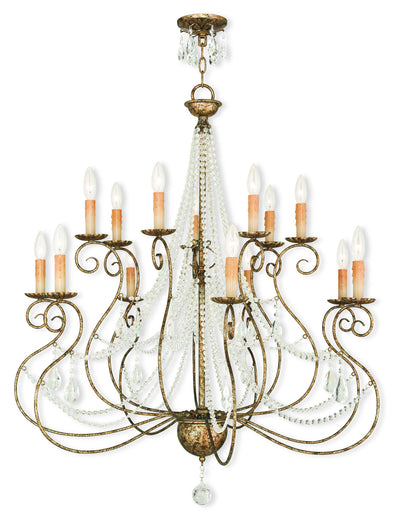 Livex Lighting Isabella Hand Applied European Bronze Foyer Chandelier 51910-36