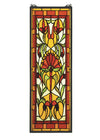 "Meyda 10""W X 30""H Piccadilly Stained Glass Window"