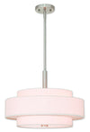 Livex Lighting Meridian Brushed Nickel Pendant 52137-91