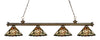 Z-Lite Riviera Antique Brass 200-4AB-Z14-10 Island/Billiard Light