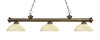 Z-Lite Riviera Antique Brass 200-3AB-DGM14 Island/Billiard Light