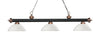 Z-Lite Rivera Matte Black & Antique Copper 200-3MB+AC-DMO14 Island/Billiard Light