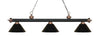 Z-Lite Rivera Matte Black & Antique Copper 200-3MB+AC-PBK Island/Billiard Light