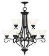 Livex Lighting Coronado Bronze Chandelier 6119-07