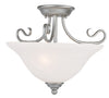 Livex Lighting Coronado Brushed Nickel Ceiling Mount 6121-91