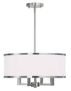 Livex Lighting Park Ridge  Brushed Nickel Chandelier 62615-91