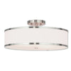 Livex Lighting Park Ridge Brushed Nickel Ceiling Mount 62629-91