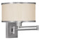 Livex Lighting Park Ridge Brushed Nickel Swing Arm Wall Lamp 6279-91