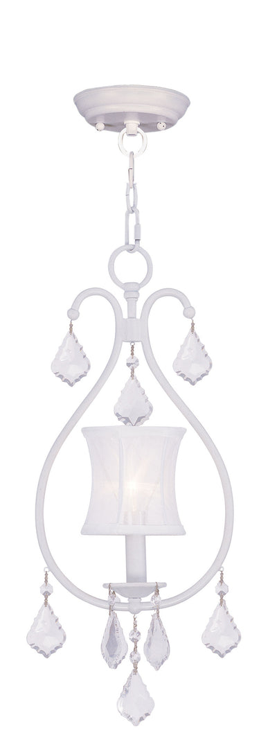 Livex Lighting Newcastle White Convertible Chain Hang/Ceiling Mount 6300-03