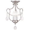 Livex Lighting Chesterfield Brushed Nickel Convertible Chain Hang/Ceiling Mount 6420-91