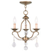 Livex Lighting Chesterfield Antique Gold Leaf Mini Chandelier 6423-48