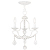 Livex Lighting Chesterfield Antique White Mini Chandelier 6423-60