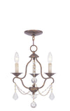Livex Lighting Chesterfield Hand Applied Venetian Golden Bronze Mini Chandelier 6423-71