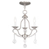 Livex Lighting Chesterfield Brushed Nickel Mini Chandelier 6423-91