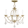 Livex Lighting Chesterfield Polished Brass Mini Chandelier 6424-02